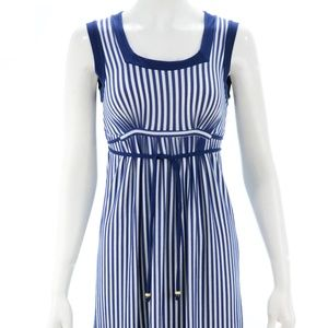 ELLA MOSS NAVY BLUE & WHITE STRIPED\ DRESS SIZE S